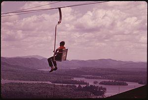 McCauley Mountain (New York) - McCauley Mountain chair lift, 1973