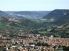 General view of Millau