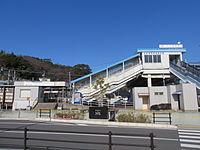 MT-Gamagōri-Kyōteijō-Mae Station-Building 2015-1.JPG