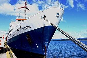 MV Ushuaia - MV Ushuaia at dock