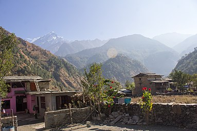 Machapuchare from Dana, Nepal-Wiki Loves Villages-0625.jpg