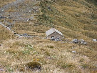 Mackinnon Pass - Mackinnon Pass shelter