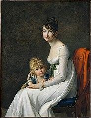 Madame Philippe Panon Desbassayns de Richemont (Jeanne Eglé Mourgue, 1778–1855) and Her Son, Eugène (1800–1859)