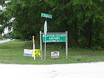 Madison County Airport sign off of US90.JPG