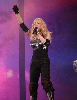 "Like a Prayer (album) - Madonna performing the title track ""Like a Prayer"" on the Sticky & Sweet Tour. The song marked a turning point in her career and she began to be viewed as an efficient businesswoman."