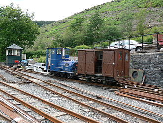 Maespoeth Junction - The station yard at Maespoeth Junction, with the replacement signal box in the background.