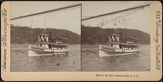 Maid of the Mist - Stereoscopic view of Maid of the Mist II, c. 1896–1906