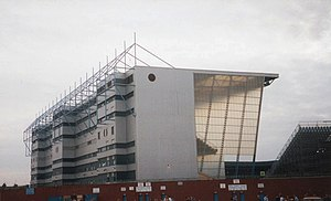 Maine Road - The new, taller Kippax Stand