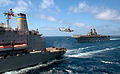 Makin Island (LHD 8) replenishment at sea.jpg