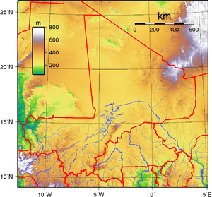 Geography of Mali - Mali's topography.