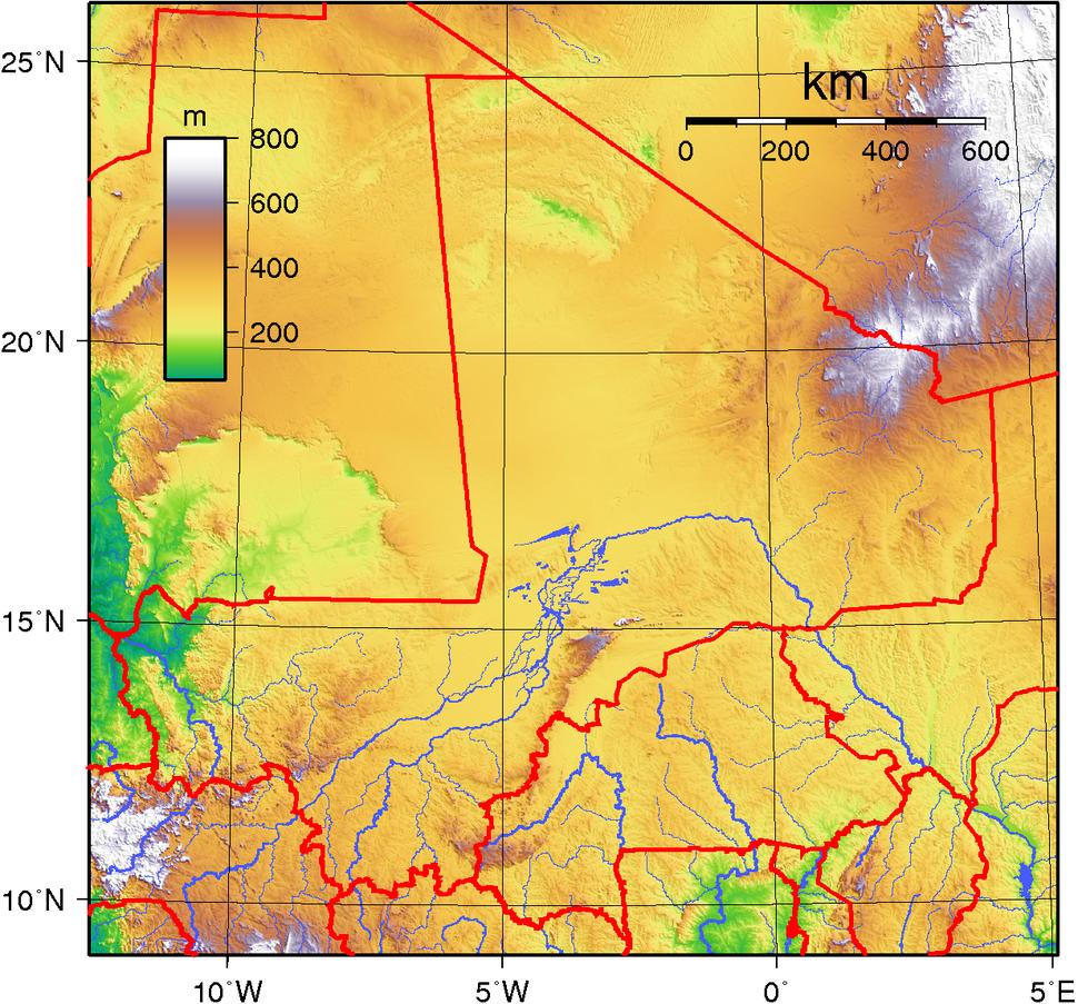 Mali Topography