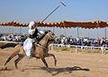 Malik Ata riding on Young Dun at Chakri Mela.jpg