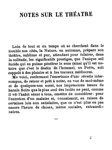 File:Mallarmé - Notes sur le théâtre.djvu