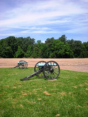 Henrico County, Virginia - Cannons at the site of the Battle of Malvern Hill