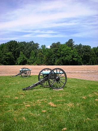 Battle of Malvern Hill - The cannons on the modern-day battlefield at Malvern Hill