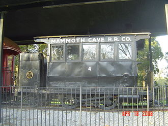 "Mammoth Cave Railroad - Mammoth Cave Dinkey Train ""dummy"" steam engine No. 4"