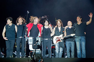 Maná - Members and additional band in 2012.