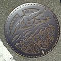 Manhole cover of Onojo, Fukuoka.jpg