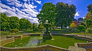 Sutton, London - Image: Manor Park fountain Sutton