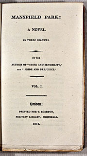 <i>Mansfield Park</i> Novel by Jane Austen