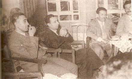Founders of the Baath Party during its formation in Damascus - April 1947 Mansur Al-Atrash4.jpg