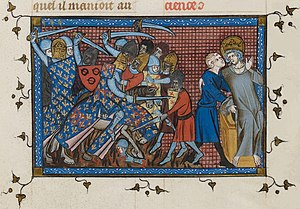 Charles I of Anjou - The crusaders' defeat in the Battle of Al Mansurah in Egypt