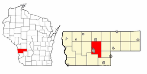 Youth Initiative High School - Image: Map Highlighting Town Of Viroqua Vernon Ct WI