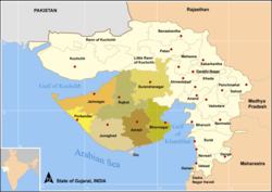 Districts of Saurastra, Gujarat
