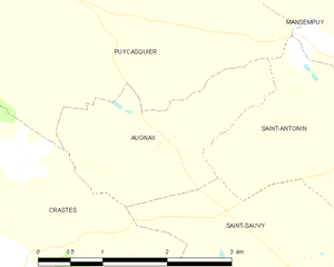 Augnax - Augnax and its surrounding communes