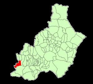 Alcolea - Image: Map of Alcolea (Almería)