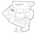 Map of Aleppo Township, Allegheny County, Pennsylvania Highlighted.png