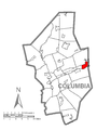 Map of Berwick, Columbia County, Pennsylvania Highlighted.png