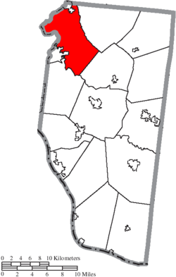 Location of Miami Township in Clermont County