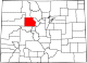 Map of Colorado highlighting Eagle County.svg