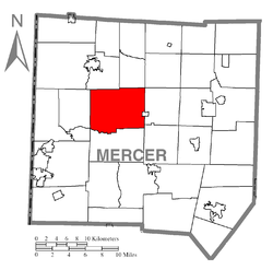 Location of Delaware Township in Mercer County