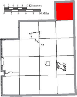 Location of Thompson Township in Geauga County