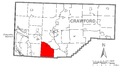 Map of Greenwood Township, Crawford County, Pennsylvania Highlighted.png