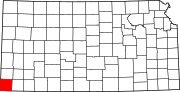Map of Kansas highlighting Morton County.svg