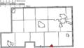 Map of Mahoning County Ohio Highlighting Columbiana City.png