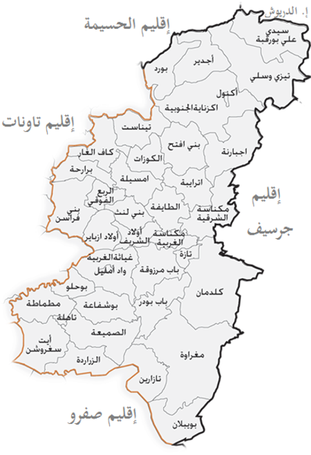 Map of Taza Province AR.png