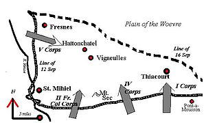 Battle of Saint-Mihiel - Map of the Battle