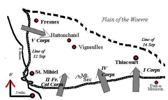 Map of battle St. Mihiel
