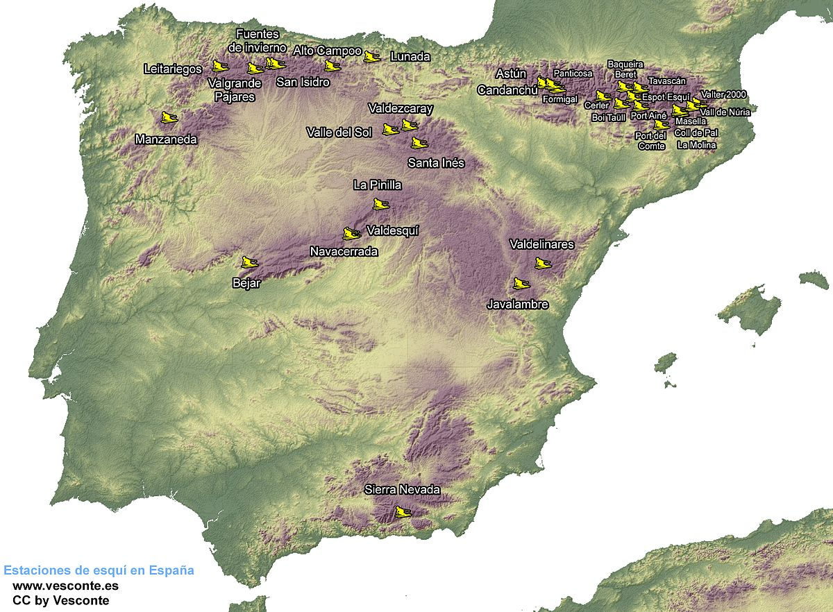 Esquí En España Wikipedia La Enciclopedia Libre