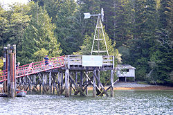 Dock at Hot Springs Cove