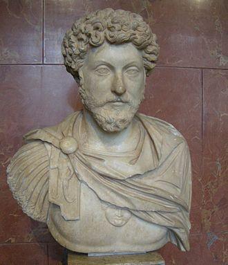 Reign of Marcus Aurelius - Bust of Marcus Aurelius from Probalinthos, Attica, Greece, c. 161 AD, now in the Louvre, Paris