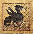 Margaritone d'arezzo, madonna col bambino in trono e scene religiose, 1263-64 ca. 10 santa margherita in prigione esce illesa dal drago.jpg