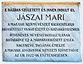 Mari Jászai plaque Ászár Jászai Mari utca 17.jpg
