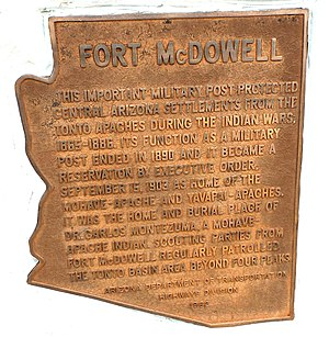 Fort McDowell, Arizona - Location where Fort McDowell once stood