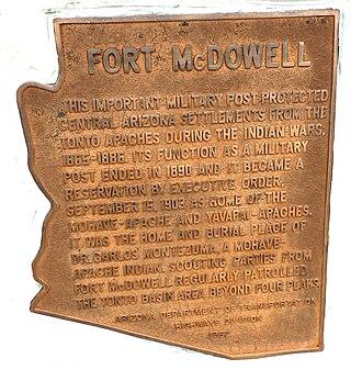 Fort McDowell, Arizona - Location where Fort McDowell once stood