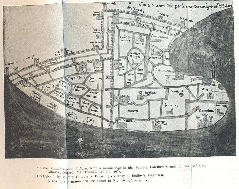 Marino Sanudo's plan of ACRE